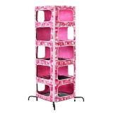 迷彩柄ピンクのキャットタワー