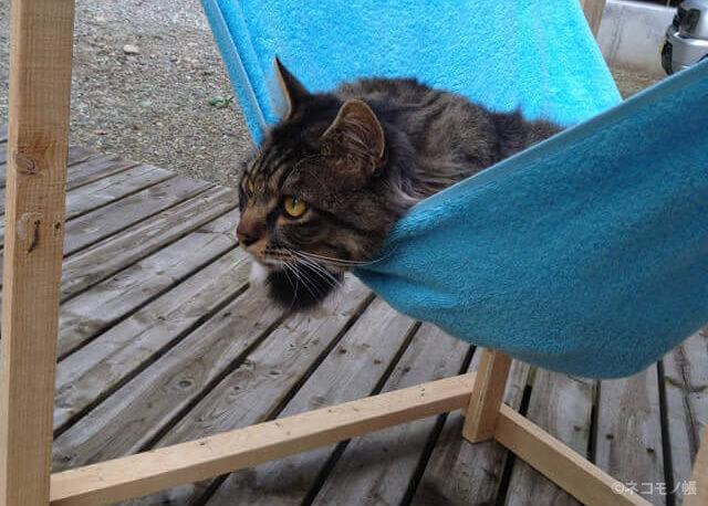 猫のためのいろいろな自作ハンモック製作事例