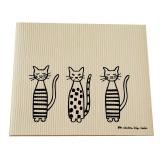3匹の猫のキッチンマット
