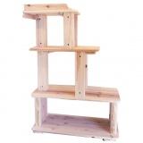 1点モノの手作り天然木キャットタワー