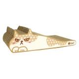 仏頂面の猫のイラストが可愛いダンボール爪とぎ