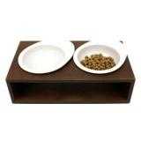 お水とゴハンを一緒における猫の食事台