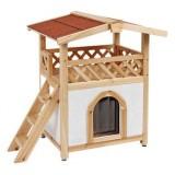 屋外でも使える本物の家のようなキャットハウス