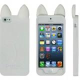 シリコン素材のねこ耳iPhoneケース