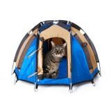 本物のテントみたいな猫用テント