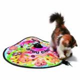 くるくるまわるひとりで遊べる猫おもちゃ