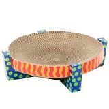 爪とぎもできるダンボール製のキャットベッド