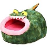 鱗がリアルな恐竜のキャットハウス