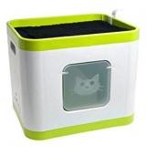 ベッドにもなるボックス型の猫用システムトイレ