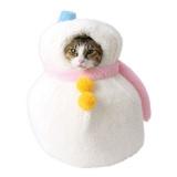 雪だるまのかたちの猫ハウス