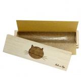 高級桐天然木を使用した猫のひげケース