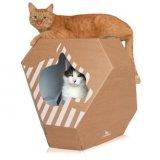 リバーシブルのダンボール猫ハウス