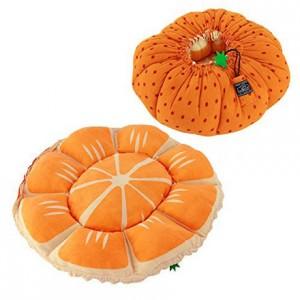 かぼちゃのふわふわ猫ベッド