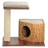 ミニタワー付きの涼しげな猫ハウス