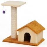 見晴台がついた三角屋根の可愛い猫ハウス