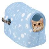 夏も涼しいドーム型の猫ベッド