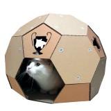 サッカーボールの猫ハウス