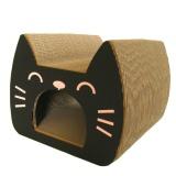 猫のかたちのトンネルつめとぎ