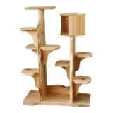 和室にも洋室にも合う無垢材のツインキャットタワー