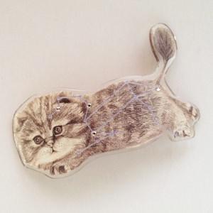 猫をモチーフにしたオーダーメイドのアクセサリ