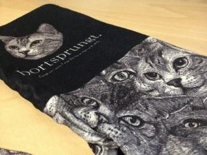 猫で埋め尽くされたオーダーメイドのプリントタイツ