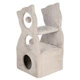 猫のシルエットのデザインが可愛いキャットタワー
