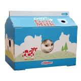 牛乳パックみたいなダンボール猫ハウス