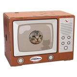 レトロなデザインが懐かしいテレビ型の猫ハウス