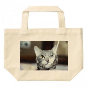 猫の写真をプリントしたオーダーメイドのトートバック
