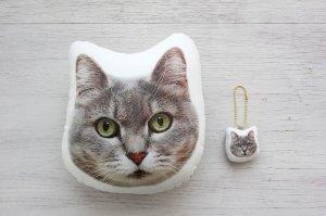 猫の写真でオーダーメイドのクッションが作れるサービス