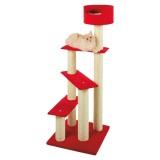 ふかふかのベッドが付いた登りやすいキャットタワー