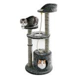 シャギー生地のカバーがおしゃれなキャットタワー