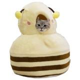 写真が撮りたくなるミツバチのかたちの猫ベッド