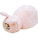 ウサギのかたちの猫ベッド