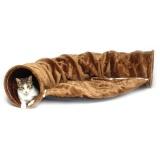ふわふわで柔らかな起毛素材のキャットトンネル