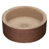 木製インテリアのような猫の円型つめとぎ
