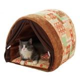 自然に体が暖まる蓄熱素材のぽかぽか猫ベッド