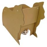 自由にカスタムして楽しめる猫のダンボールハウス