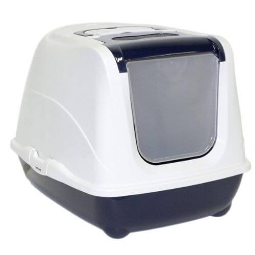 掃除しやすいフードタイプのキャットトイレ