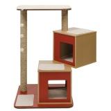 鳥の巣箱を積み重ねたようなキャットタワー