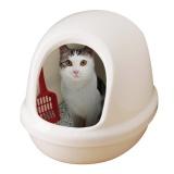 卵のようなデザインのドーム型ネコトイレ