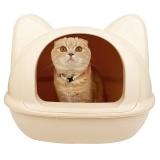 ねこのかたちの猫トイレ