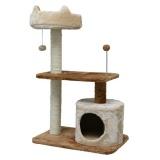 猫耳ベッド付きの使いやすいキャットタワー