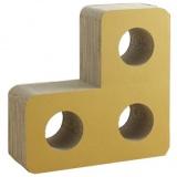 ブロックのように組み合わせて遊べる爪とぎ