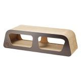 木製パネルとダンボールを組み合わせた高品質なデザイナーズつめとぎ