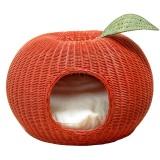 りんごのデザインの猫ベッド