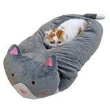 巨大な猫のぬいぐるみの猫ベッド