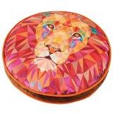 ポリゴンデザインのライオンが描かれた猫のクッションベッド