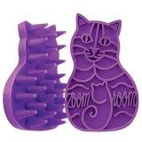 カラフルな猫のかたちのラバーブラシ