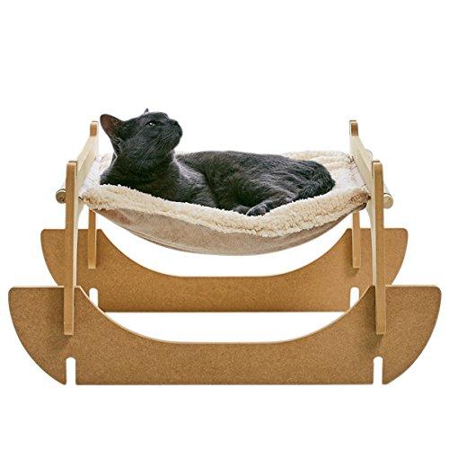 二段ベッドとしても使える組み立て式の猫用ハンモックベッド